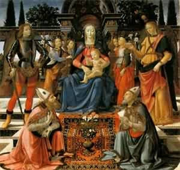 Madonna and child enthroned with saints 1483 florence